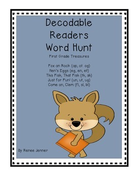 First Grade Treasures Decodable Reader Word Hunts Unit 2