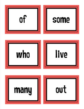 First Grade Treasures High Frequency Words Flash Cards Complete Bundle