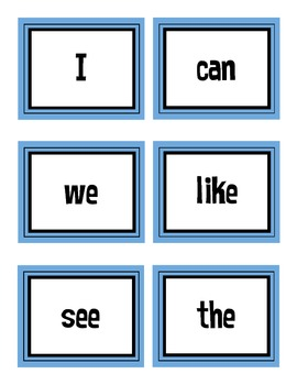 First Grade Treasures High Frequency Words Flash Cards Unit 1