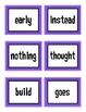 First Grade Treasures High Frequency Words Flash Cards Unit 6
