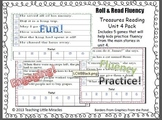 First Grade Treasures Reading - Roll and Read Fluency Game