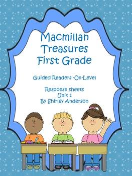 First Grade Treasures- Unit 1- Guided Readers Response Sheets