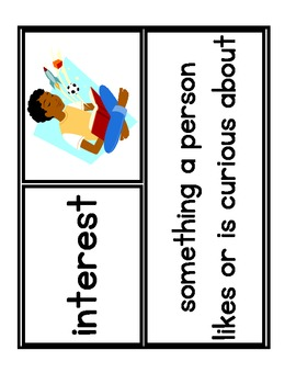 First Grade Treasures - Unit 1 - Vocabulary