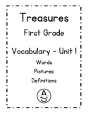 First Grade Treasures - Unit 1 - Vocabulary