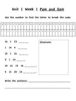 First Grade Treasures Unit 1 Week 1 Spelling Packet (Tennessee Treasures)