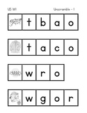 First Grade Treasures Unit 5 Unscrambles