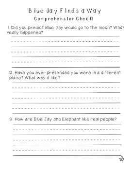 First Grade Treasures Unit 6.2 Blue Jay Finds a Way Supplemental Material