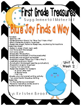 First Grade Treasures Unit 6.2 Blue Jay Finds a Way Supple