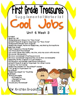 First Grade Treasures Unit 6.3 Cool Jobs Supplemental Material