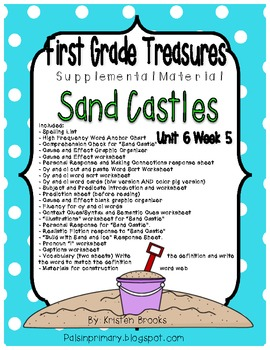 First Grade Treasures Unit 6.5 Sand Castle Supplemental Material