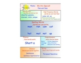 First Grade Treasures Weekly Focus Chart