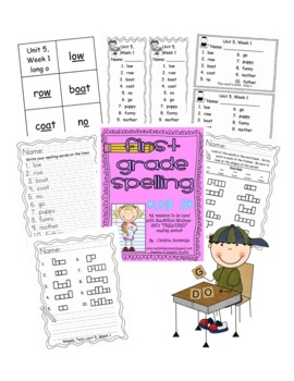 First Grade Treasures Weekly Spelling Packets