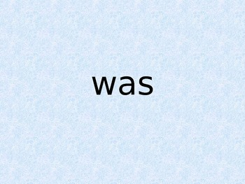 First Grade Trick Words