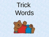 First Grade Trick Words