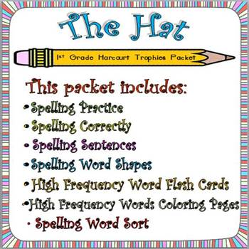 The Hat: First Grade Spelling and HFW Worksheets