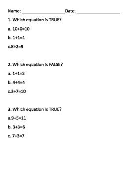 First Grade MA.1.OA.7 Practice