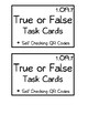 First Grade True or False Task Cards (with Self-Checking QR Codes)
