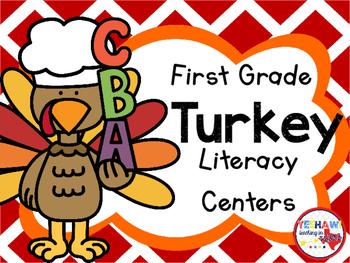 First Grade Turkey Literacy Stations