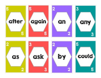 First Grade Sight Words UNO