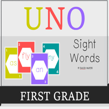 First Grade Sight Words UNO-Dolch