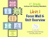 First Grade Reading Focus Wall supports Unit 1 McGraw Hill Wonders Grade 1