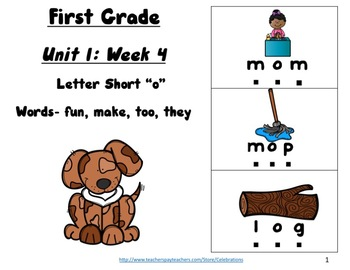 First Grade Unit 1 Week 4 Readers