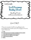 Scott Foresman Reading Street 1st Grade U-2 Spelling Test