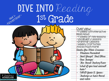 First Grade- Unit 3 Dive Into Reading, Interactive Read Alouds, Mini-lessons