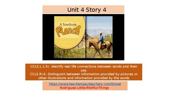 First Grade Unit 4 Story 4 Southern Ranch