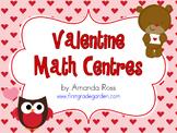 First Grade Valentine Math Centres