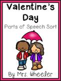 First Grade Valentine Parts of Speech Activity
