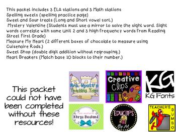 First Grade Valentine Stations