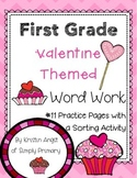 First Grade Valentine Themed Word Work Activities