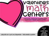 First Grade Valentine's Math Centers