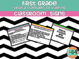 First Grade Virginia Standards of Learning Classroom Posters