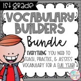 First Grade Vocabulary FULL YEAR Bundle