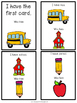 First Grade Vocabulary:  I Have, Who Has: Back to School