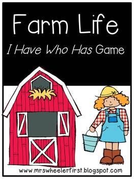 First Grade Vocabulary:  I Have, Who Has: Farm Life
