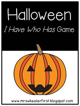 First Grade Vocabulary:  I Have, Who Has: Halloween