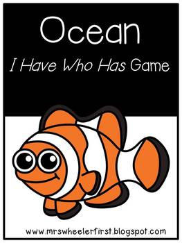 First Grade Vocabulary:  I Have, Who Has: Ocean