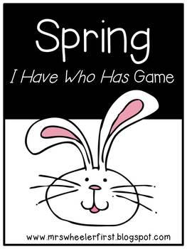 First Grade Vocabulary:  I Have, Who Has: Spring