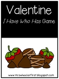 First Grade Vocabulary:  I Have, Who Has: Valentine's Day