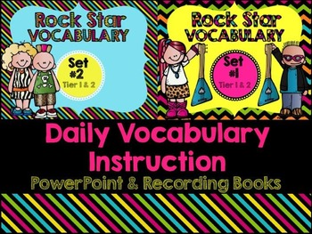 First Grade Vocabulary Powerpoint and Books