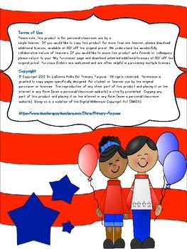 First Grade Vocabulary Support for America the Beautiful