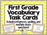 First Grade Vocabulary Task Cards