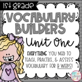First Grade Vocabulary Word Builders Unit 1