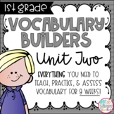 First Grade Vocabulary Word Builders Unit 2