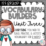 First Grade Vocabulary Word Builders Unit 3