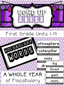 First Grade Flocabulary Words Units 1-14