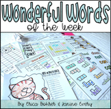 First Grade WONDERful Words of the Week